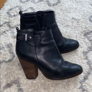 Coach real leather booties
